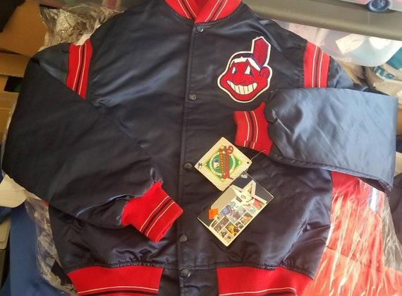 New original 90s Cleveland Indians starter jacket NWT Indians jacket MEDIUM