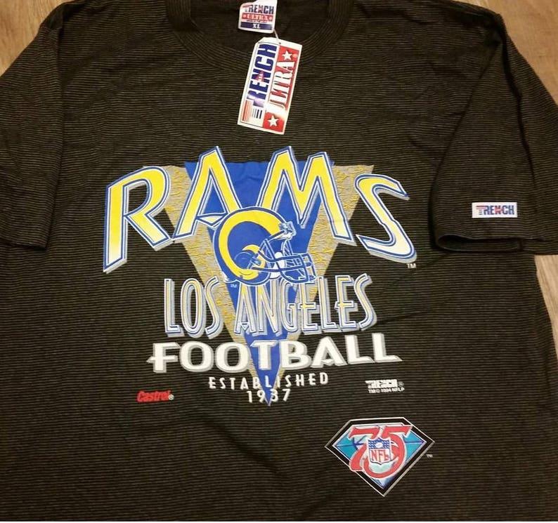 c3868af6 XL LA Rams shirt 90s tee New vintage tee shirtvintage NFL | Etsy