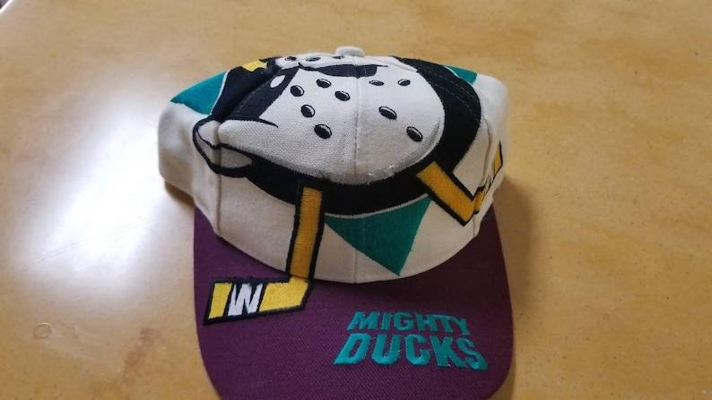 on sale 62b36 c9526 New 90s anaheim mighty ducks snapback hat the game big logo   Etsy