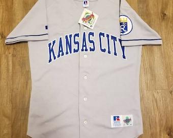 Size 40/medium Kansas city royals jersey, russell authentic diamond jersey,New vintage jersey, 90s