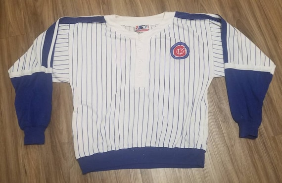 XL 90s chicago cubs starter sweater,chicago cubs s
