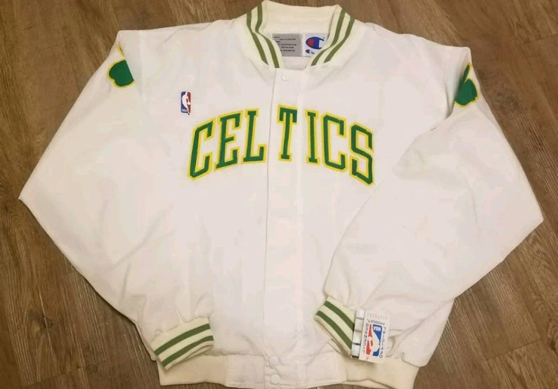brand new 502cb e92fc New LARGE Boston Celtics warm up jacket,NEW with original tags, 90s vintage  nba jacket champion jacket celtics jacket