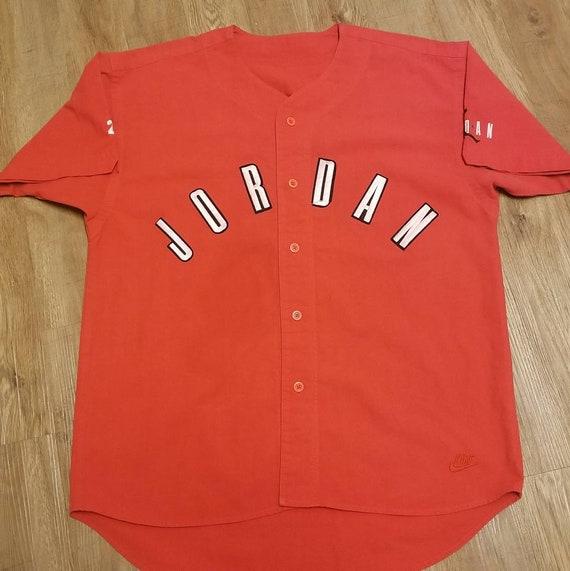 d6e994a27c7 LARGE 90s Nike Jordan baseball jersey Vintage nike jersey | Etsy