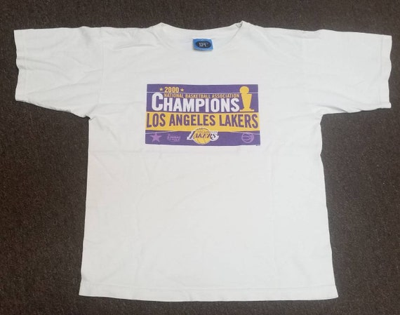 Original 2000 LA Lakers shirt,lakers championship