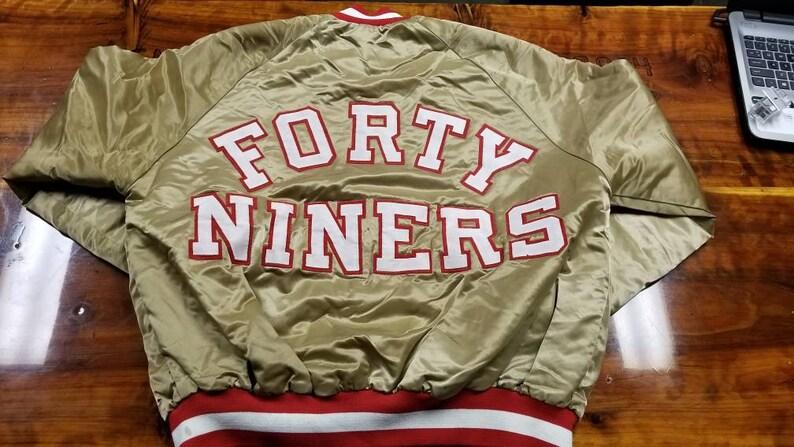 c46589ac LARGE San Francisco 49ers starter jacket 90s nfl jacket, niners satin  chalkline jacket