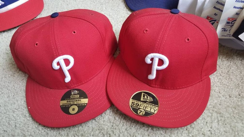 newest collection 9e403 9f526 New 90s vintage Philadelphia Phillies era fitted hat size 7 7   Etsy