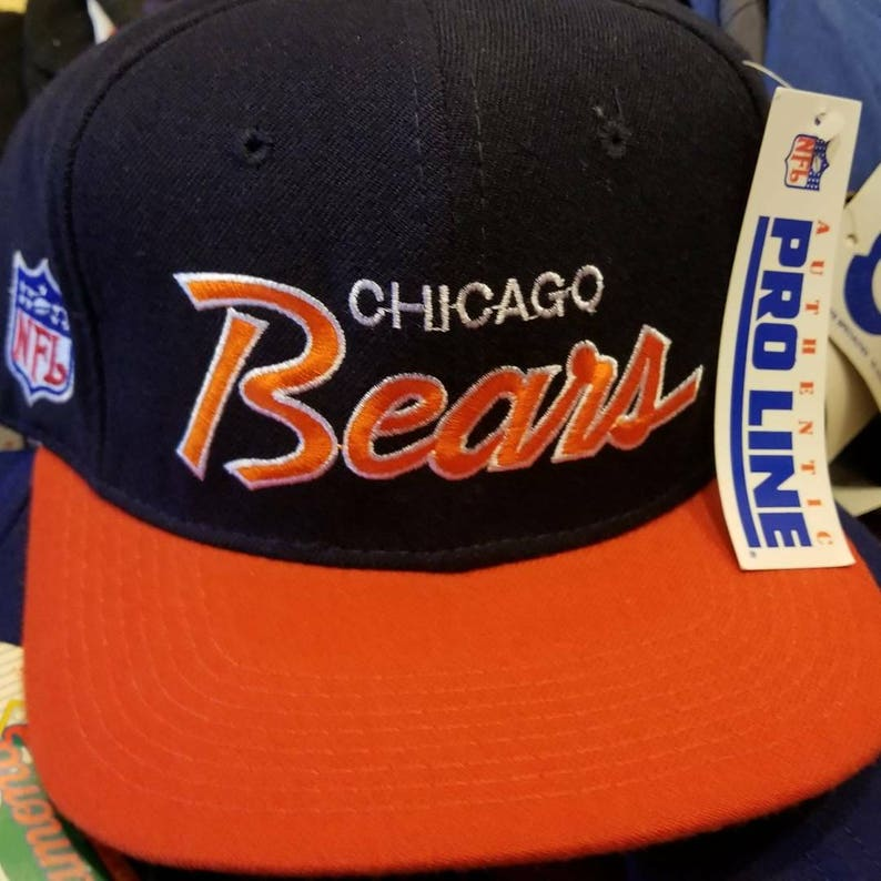 f0b1dcbd4e6 Deadstock 90s Chicago bears sports specialties hat fitted 7