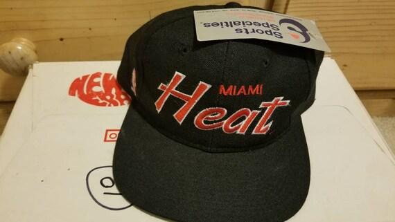 NWT 90s Miami Heat snapback hat,vtg hat, vintage h