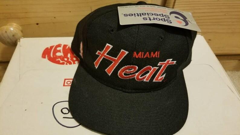 ce4a49d5f NWT 90s Miami Heat snapback hat,vtg hat, vintage hat,vintage nba hat  snapback sports specialties hat snapback