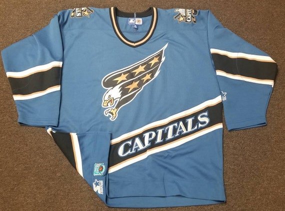 hot sale online 11b79 ebccf canada washington capitals 90s jersey 87334 1a0a9