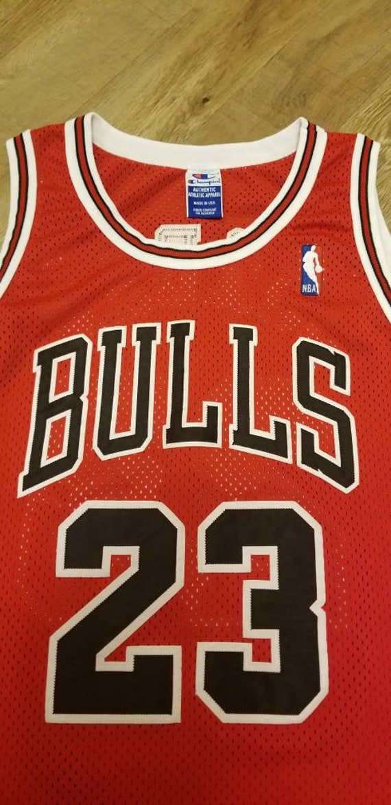 official photos 557b5 27f26 1995-1996 Michael jordan Chicago bulls champion jersey size 48 authentic  bulls jersey