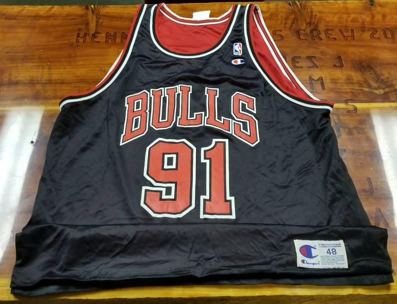 847869a8d2a Size 48/XL Dennis Rodman Chicago bulls reverisble champion | Etsy