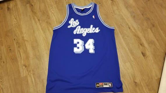 timeless design a7c54 55da9 Shaq lakers Jersey, Nike Lakers jersey,nike jersey,lakers jersey, authentic  jersey size 52 Lakers jersey,throwback jersey