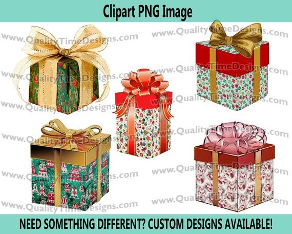 Christmas Clipart - Presents Set Clip Art 103 - vintage paper set - by Quality Time Designs