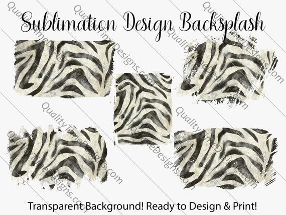 Sublimation Design Transfer Background Splash - Zebra - Printable - Print and Cut - PNG Transparent - Element Collection
