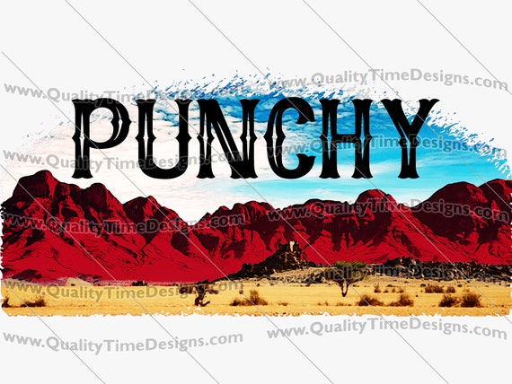 PUNCHY Landscape 101 - Clipart for Craft Supply Tool Sublimation Printing Transfers by Quality Time Designs