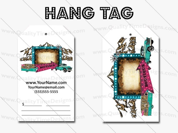 Premade Design for Custom Hang Tags 109 - Full Color Printing Front and Back - by Quality Time Designs