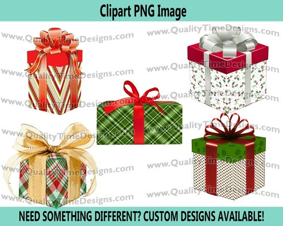 Christmas Clipart - Presents Set Clip Art 102 - Red White GREEN - by Quality Time Designs