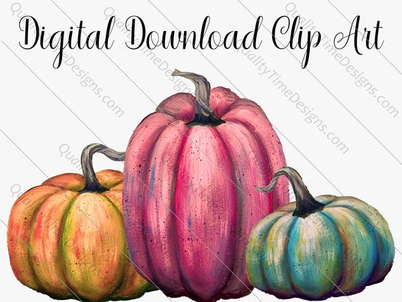 Watercolor Clipart Designs - Fall Pumpkin Vol 006 - Great for Sub Transfer Printing - by Quality Time Designs