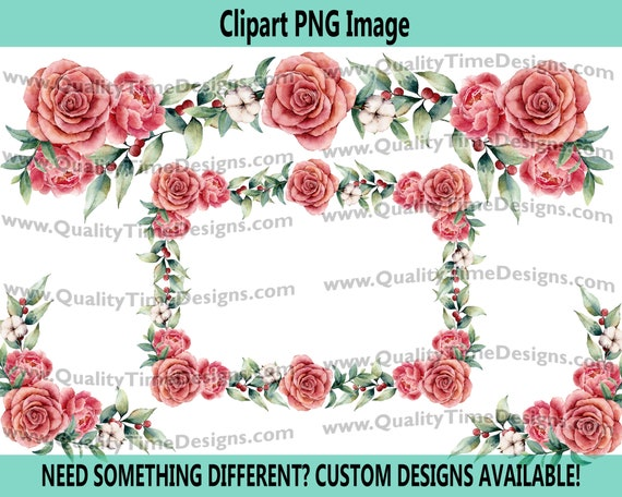 Water Color Floral Rose arrangement 101 - Peach Pink Rose Cotton Berries - by Quality Time Designs