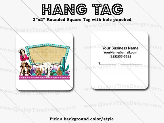 Premade Design for Custom Hang Tags 107 - Full Color Printing Front and Back - by Quality Time Designs
