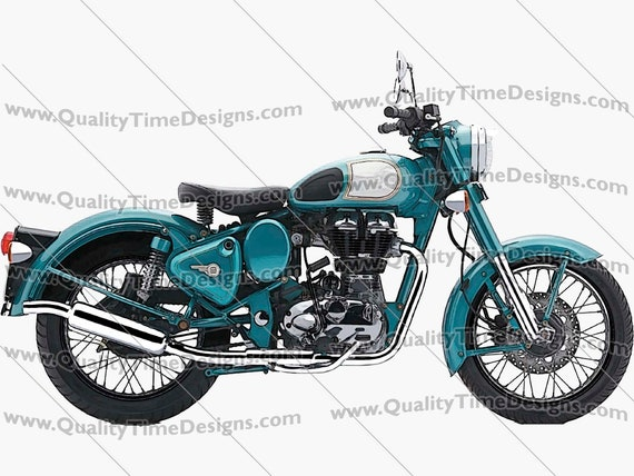 Motorcycle Clipart Motorcycle 101 Light Blue - by Quality Time designs