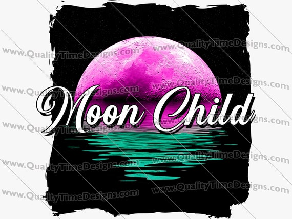 Clipart Sublimation Transfer Design - Moon Child 101 - by Quality Time Designs