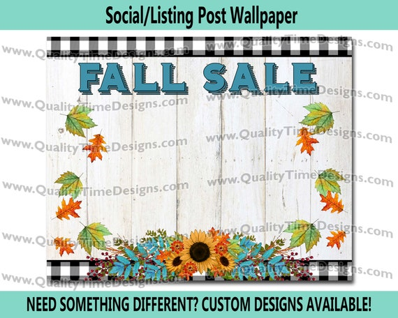 Fall Floral 101 Social Post | Digital Design Download PNG | Leopard Pink Sale Graphic | Small Commercial ok | SALE Graphic ClipArt