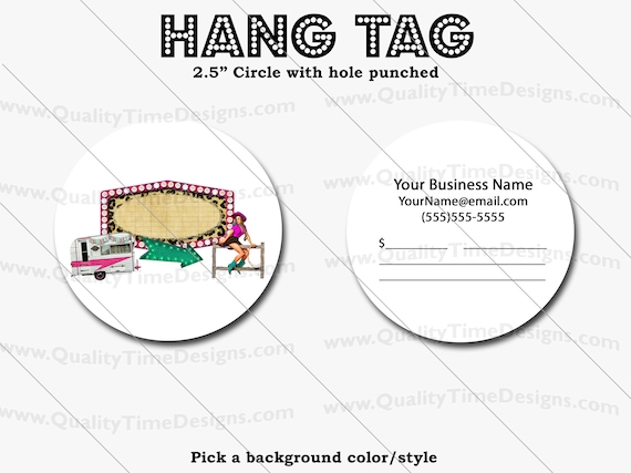 Premade Design for Custom Hang Tags 112 - Full Color Printing Front and Back - by Quality Time Designs