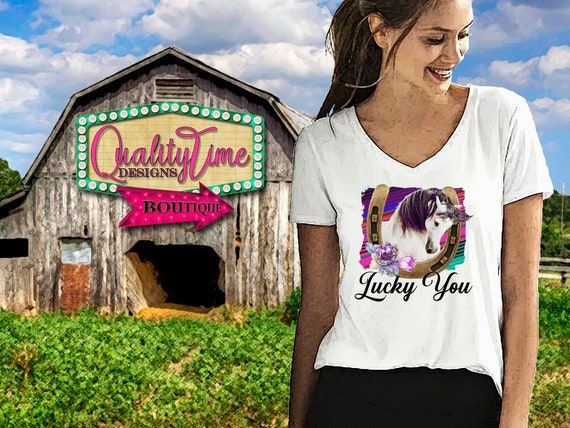 Printable Sublimation Designs - Lucky You 101 - 300 dpi 12 in Ready to print! - by Quality Time Designs