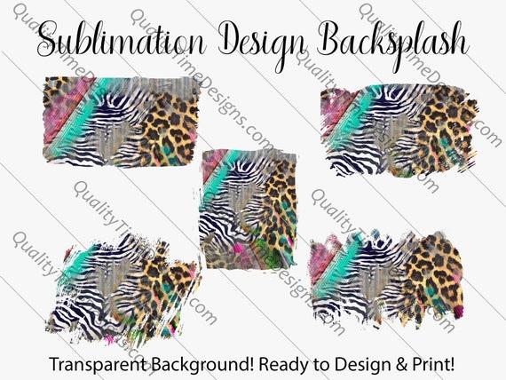 Sublimation Design Transfer Background Splash - Animal Grunge - Printable - Print and Cut - PNG Transparent - Element Collection