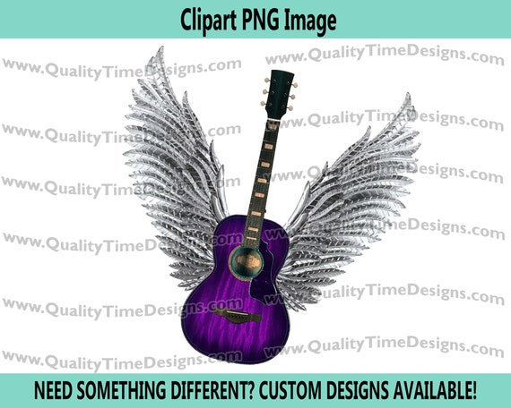 Guitar wings 101 Clipart Graphic Sublimation Designs - by Quality Time Designs