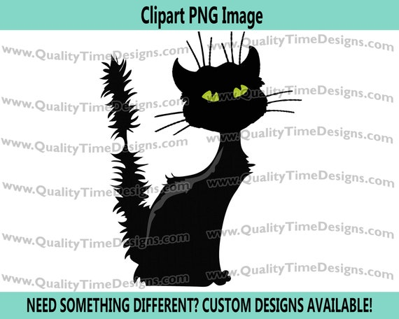Black Cat 101 - Halloween Clipart Sublimation Transfer Crafting image - Halloween Clipart Fall - by Quality Time Designs