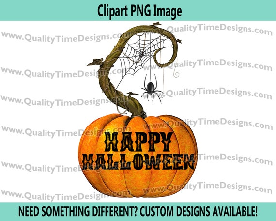Pumpkin 106 - Carved Pumpkin Clipart Sublimation Transfer Crafting image - Halloween Clipart Fall - by Quality Time Designs