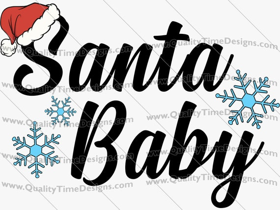 Christmas Sublimation Transfer Design Clipart - Santa Baby 101 - by Quality Time Designs