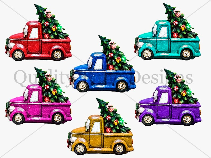 Christmas Tree And Truck Package Multi Color Pack Truck