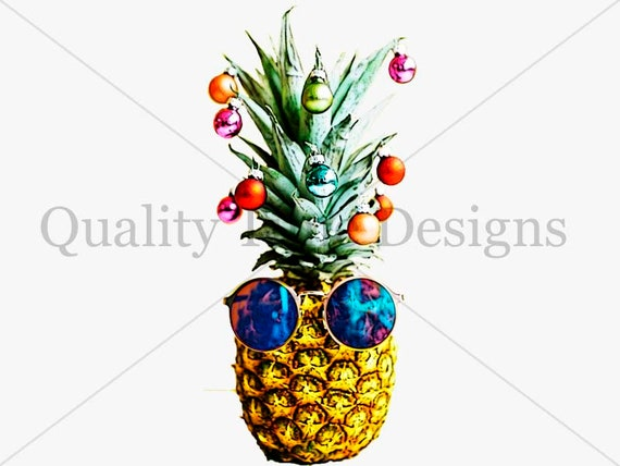Christmas Pineapple.Christmas Pineapple Tree Clip Art Transparent Background Holiday Festivity Decoration Graphic Hipster Clipart Pineapple Holiday Pineapple
