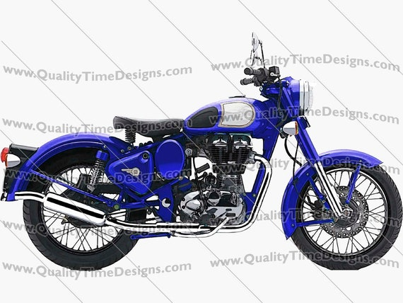 Motorcycle Clipart Motorcycle 101 Dark Blue - by Quality Time designs