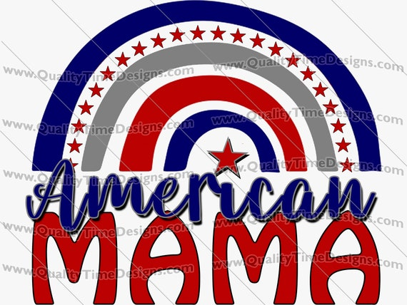 Independence Day 4th of July Clipart Transfer Sublimation Printing - American Mama 102 - by Quality Time Designs