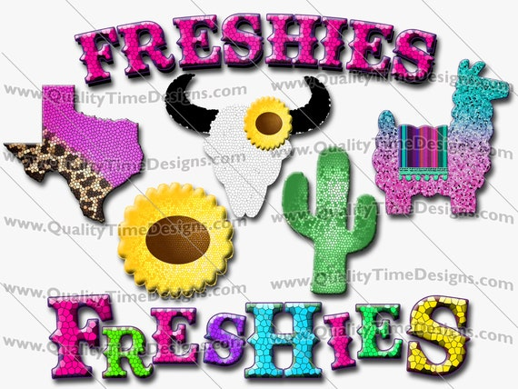 Car Freshener Clipart Shapes for home crafter business Freshies 101 - Bull Sunflower Texas Llama Cactus - by Quality Time Designs