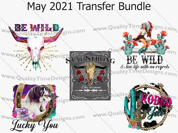 May 2021 Transfer Bundle - Printable Sublimation Transfer Design - 300 dpi 12 in Ready to print! - by Quality Time Designs