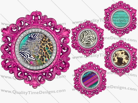 Clip Art Purple Circle Vintage Ornate Bling Frame Clipart BOHO Logo Sublimation Design Elements PNG by Quality Time Designs