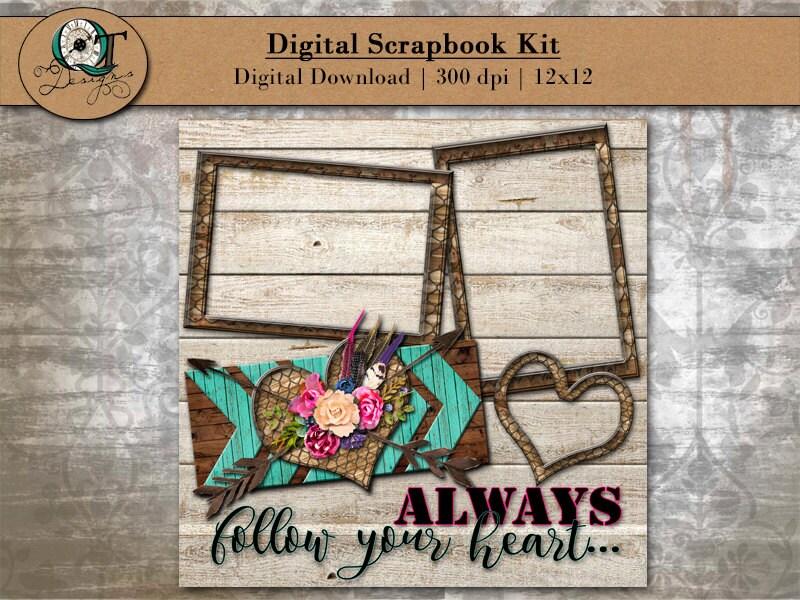 Digital Scrapbook Kit For Online Scrapbooking Always Follow Your