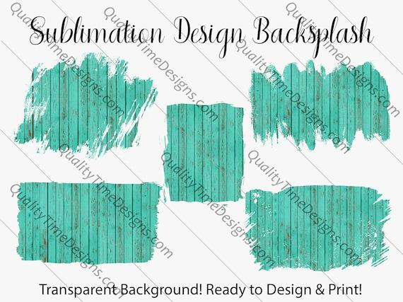 Sublimation Design Transfer Background Splash - Blue Barn wood - Printable - Print and Cut - PNG Transparent - Element Collection