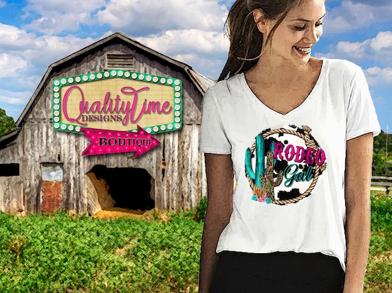 Printable Sublimation Designs - Rodeo Gal 101 - 300 dpi 12 in Ready to print! - by Quality Time Designs