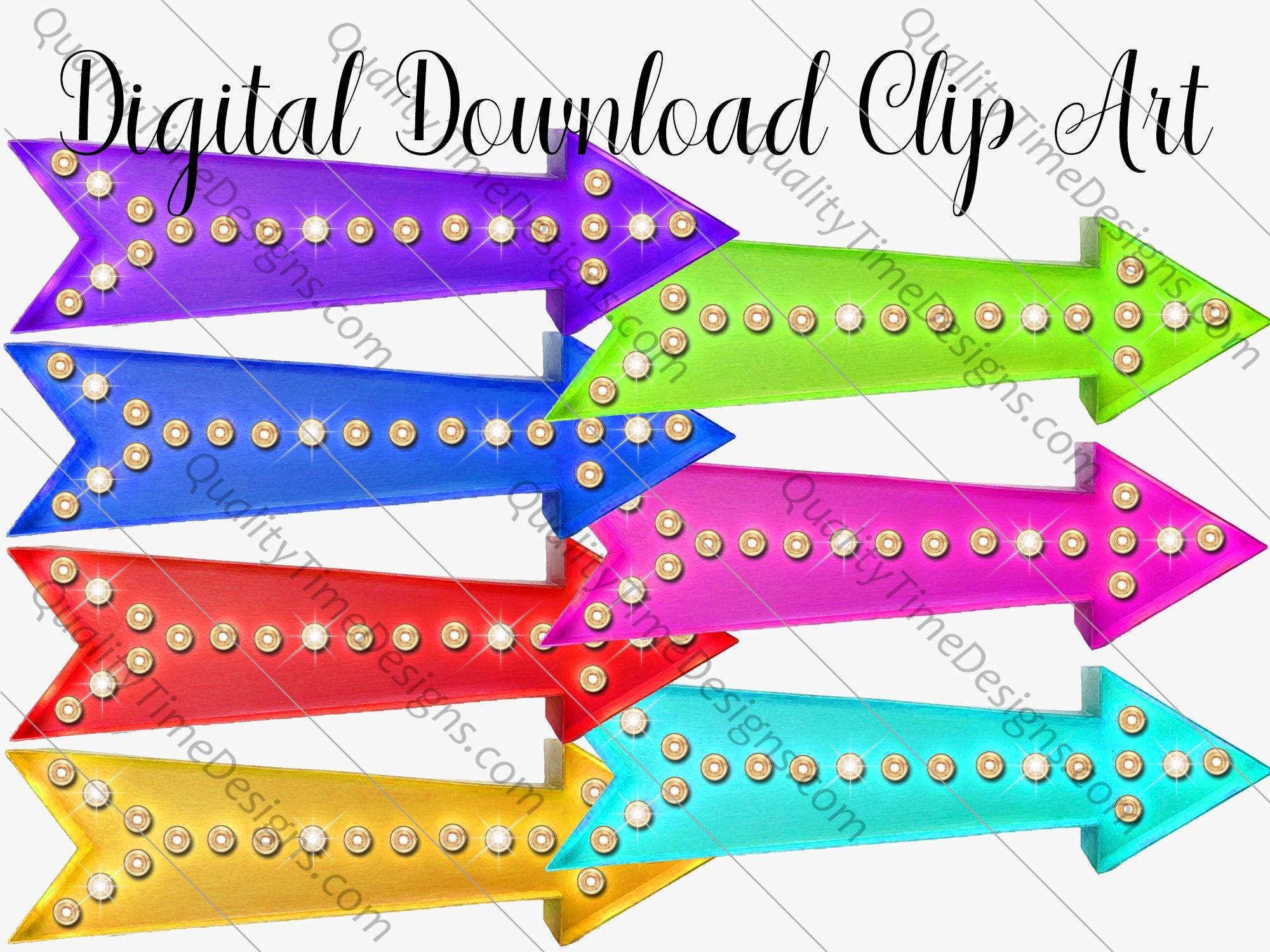 Boutique Marquee Arrow 002 Clipart | png images with ...