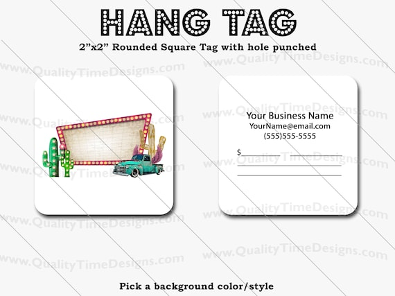 Premade Design for Custom Hang Tags 104 - Full Color Printing Front and Back - by Quality Time Designs