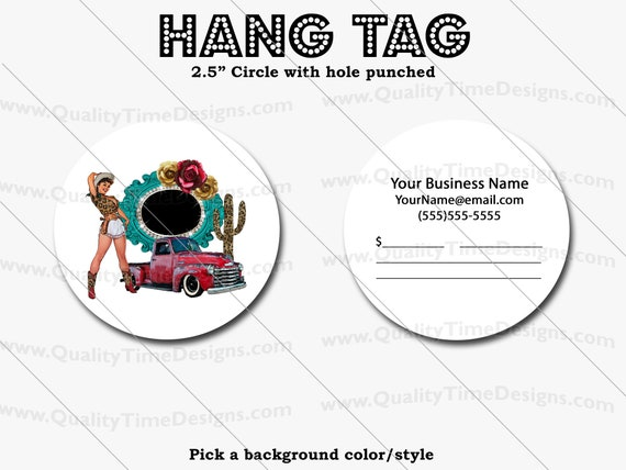 Premade Design for Custom Hang Tags 110 - Full Color Printing Front and Back - by Quality Time Designs