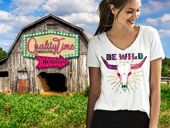 Printable Sublimation Designs - Be Wild 101 - 300 dpi 12 in Ready to print! - by Quality Time Designs
