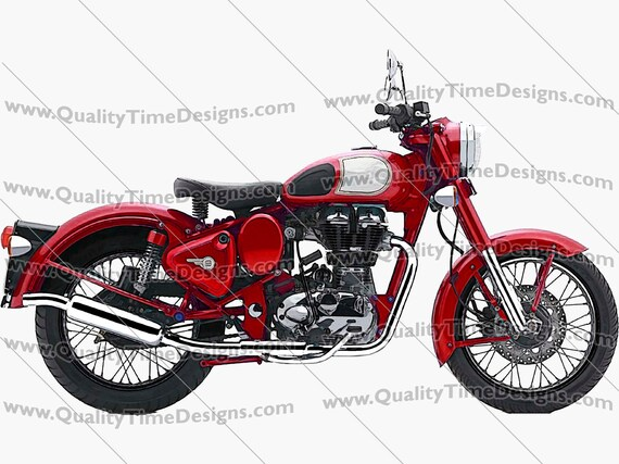 Motorcycle Clipart Motorcycle 101 Red- by Quality Time designs